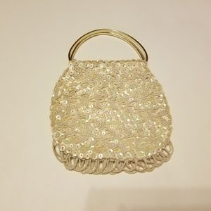 Vintage Kane M. hand beaded & sequined purse-Prom!